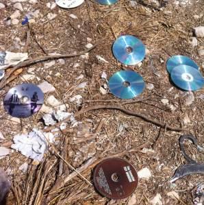 22 de Agosto-Benidorm Unos cuantos cd se encontraban tirados en el suelo de un descampado.